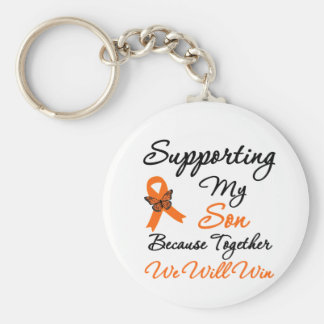 Leukemia Supporting My Son Keychain