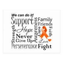Leukemia Supportive Words Postcard