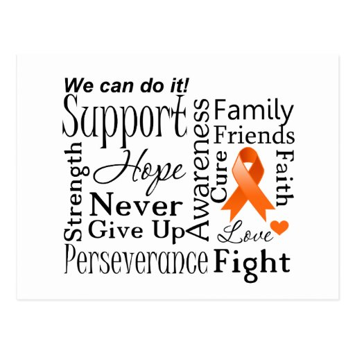 Leukemia Supportive Words Post Card
