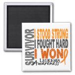 Leukemia Survivor 4 2 Inch Square Magnet