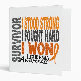 Leukemia Survivor 4 3 Ring Binder