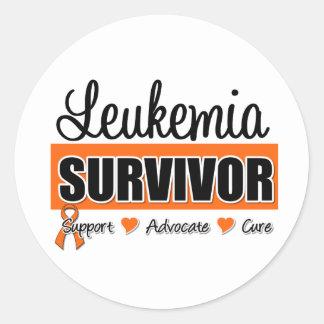 Leukemia Survivor Badge Classic Round Sticker