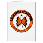 Leukemia Survivor Butterfly Greeting Cards