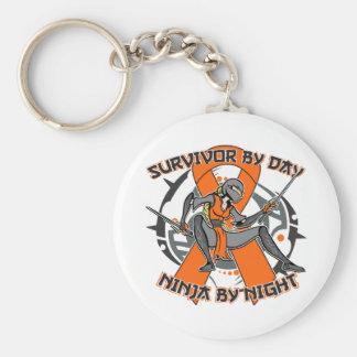 Leukemia Survivor By Day Ninja By Night Key Chains