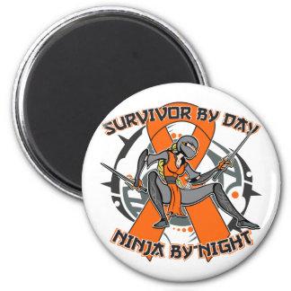 Leukemia Survivor By Day Ninja By Night Magnets