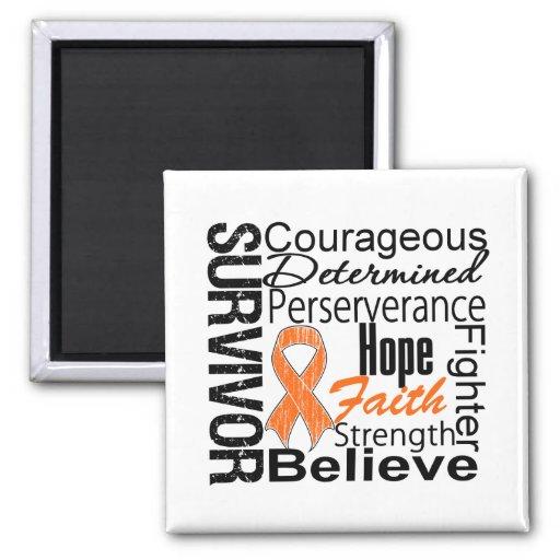Leukemia Survivor Collage Fridge Magnet