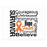 Leukemia Survivor Collage Postcard
