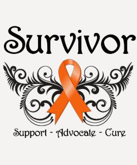 Leukemia Survivor Floral Deco Tee Shirt