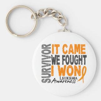 Leukemia Survivor It Came We Fought I Won Basic Round Button Keychain