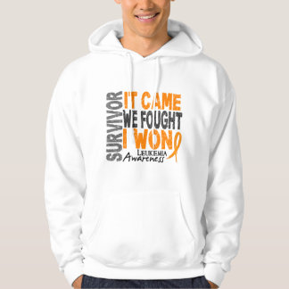 Leukemia Survivor It Came We Fought I Won Hoodie