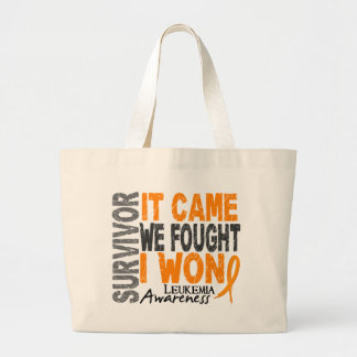 Leukemia Survivor It Came We Fought I Won Large Tote Bag