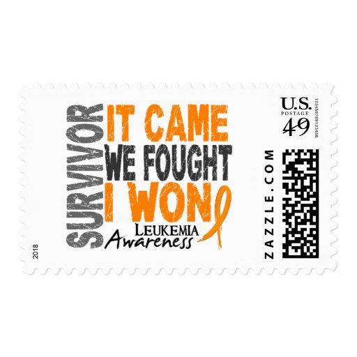 Leukemia Survivor It Came We Fought I Won Postage Stamp