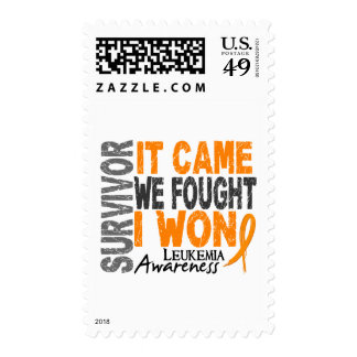 Leukemia Survivor It Came We Fought I Won Stamps
