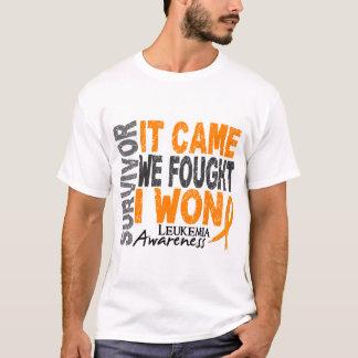 Leukemia Survivor It Came We Fought I Won T-Shirt