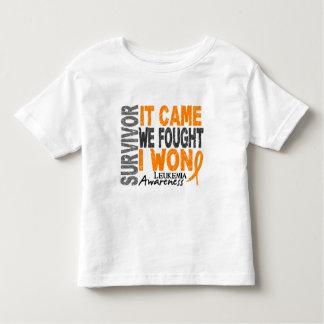 Leukemia Survivor It Came We Fought I Won Toddler T-shirt