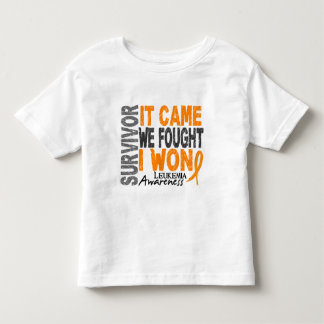 Leukemia Survivor It Came We Fought I Won Toddler T-shirt