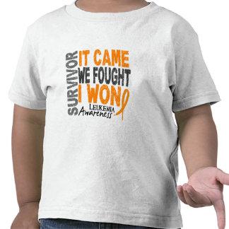 Leukemia Survivor It Came We Fought I Won T Shirt
