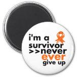 Leukemia Survivor Never Give Up Refrigerator Magnet