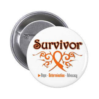 Leukemia Survivor Tribal Ribbon Pin