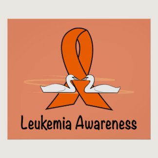 Leukemia Swans of Hopee Poster