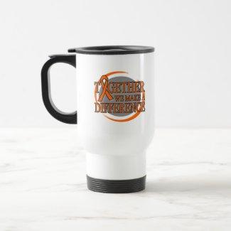 Leukemia Together We Make A Difference mug