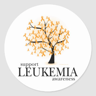 Leukemia Tree Classic Round Sticker