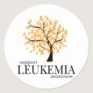 Leukemia Tree Classic Round Sticker