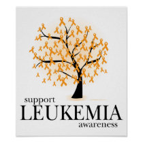 Leukemia Tree Poster