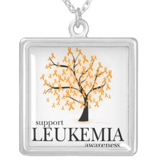 Leukemia Tree Silver Plated Necklace