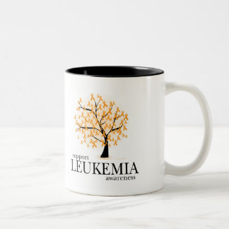 Leukemia Tree Two-Tone Coffee Mug