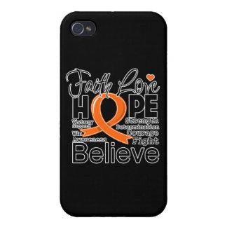 Leukemia Typographic Faith Love Hope Case For iPhone 4