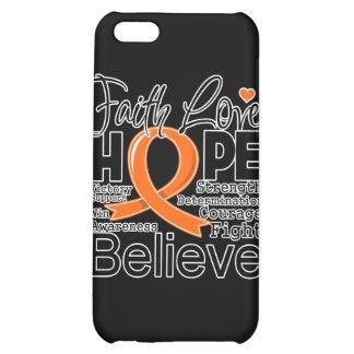 Leukemia Typographic Faith Love Hope iPhone 5C Covers