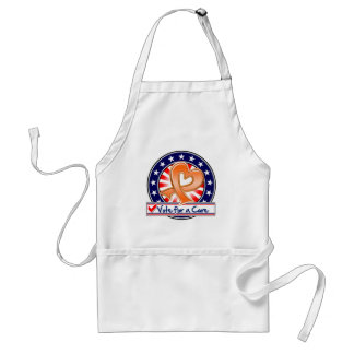 Leukemia Vote For a Cure Adult Apron