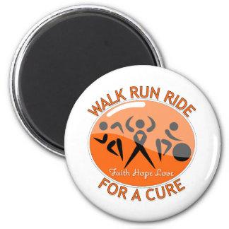 Leukemia Walk Run Ride For A Cure Fridge Magnets