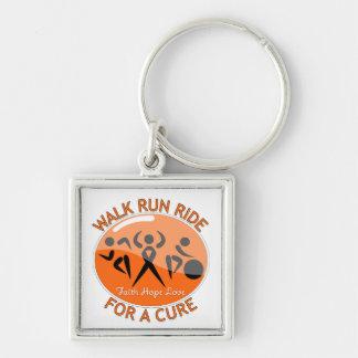 Leukemia Walk Run Ride For A Cure Keychain