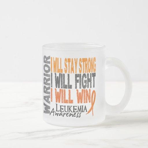 Leukemia Warrior 10 Oz Frosted Glass Coffee Mug