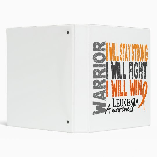 Leukemia Warrior Binder