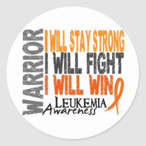 Leukemia Warrior Classic Round Sticker