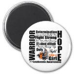 Leukemia Warrior Fight Slogans Fridge Magnets