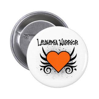 Leukemia Warrior Heart Pinback Button