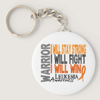 Leukemia Warrior Keychain