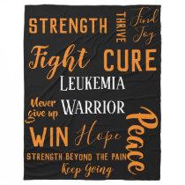 Leukemia Warrior large blanket