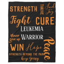 Leukemia Warrior large blanket