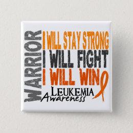 Leukemia Warrior Pinback Button
