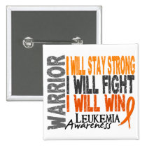 Leukemia Warrior Pinback Button