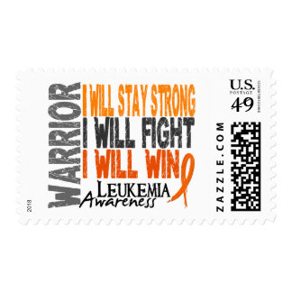 Leukemia Warrior Postage