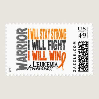 Leukemia Warrior Postage