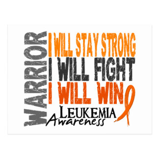 Leukemia Warrior Postcard