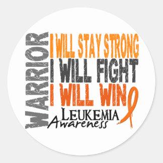 Leukemia Warrior Classic Round Sticker
