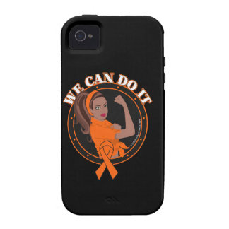 Leukemia We Can Do It (Black Girl) iPhone 4 Cases